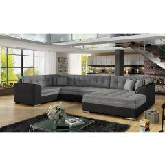 U formas dīvāns - Damario (Izvelkams)