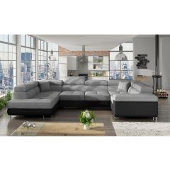 U formas dīvāns - Letto (Izvelkams ar veļas kasti)