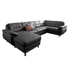Ādas U formas dīvāns - Mailand