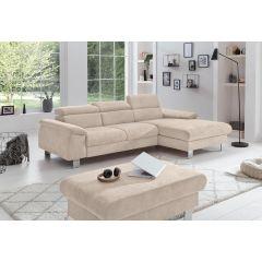 Bēšs stūra dīvāns