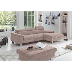 Stūra dīvāns krēma krāsā