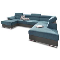 U formas dīvāns - David (Izvelkams ar veļas kasti)