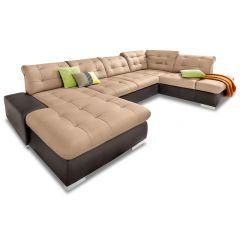 Ādas U formas dīvāns - Palomino XXL