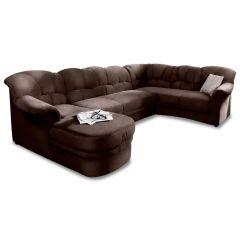 Ādas U formas dīvāns - Flores