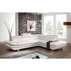 Dabīgās ādas balts ādas dīvāns