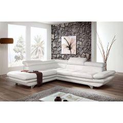 Balts ērts ādas dīvāns