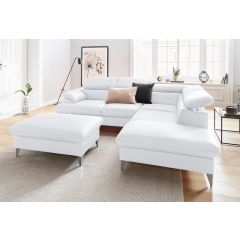 Ādas dīvāns balts