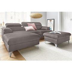 Stūra dīvāns ar pufu