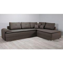 Stūra brūns dīvāns