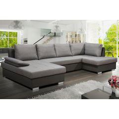 U formas dīvāns - Nelly U (Izvelkams ar veļas kasti)