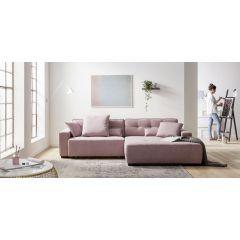 Ērts rozā dīvāns