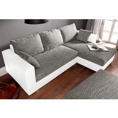 Dīvāns stūra balts