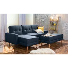 Stūra dīvāns ar spilveniem ērts