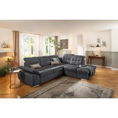 Pelēks liels stūra dīvāns