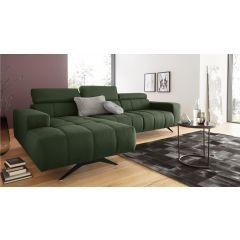 Liels zaļš dīvāns no Vācijas stūra