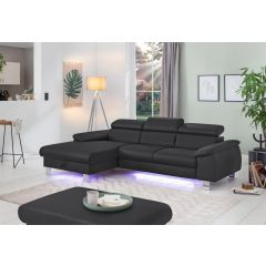 Stūra dīvāns ar led