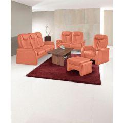 Oranžs dīvānu komplekts no vācijas ar pufu