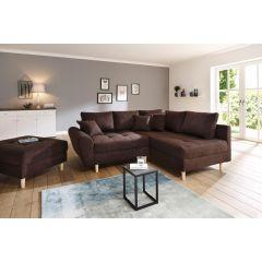Stūra dīvāns - Rice ar pufu