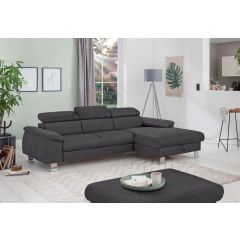 Stūra dīvāns pelēks