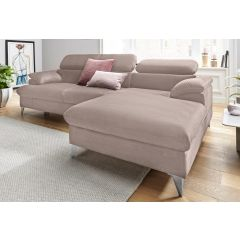 Stūra dīvāns ar metāla kājām