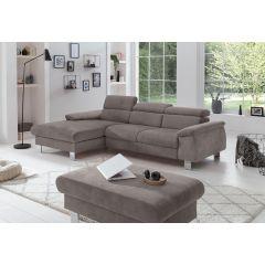 Stūra dīvāns pelēks no laba auduma