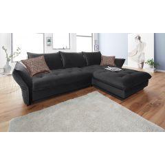 Stūra dīvāns ar spilveniem