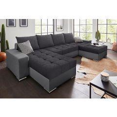 U formas dīvāns - Josy U (Izvelkams ar veļas kasti)