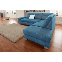 Zils stūra dīvāns