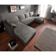 Stūra dīvāns - Caro U (Izvelkams ar veļas kasti)